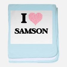 I Love Samson (Heart Made from Love w baby blanket