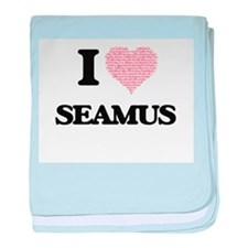 I Love Seamus (Heart Made from Love w baby blanket