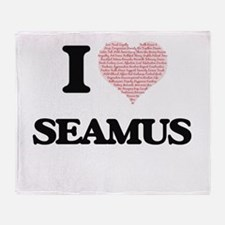 I Love Seamus (Heart Made from Love Throw Blanket