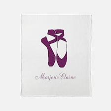 Team Pointe Ballet Orchid Personaliz Throw Blanket