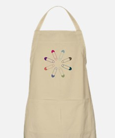 Colorful Diaper Pins Apron