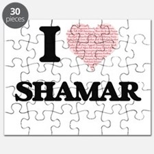 I Love Shamar (Heart Made from Love words) Puzzle