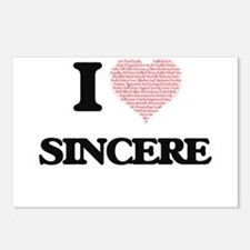 I Love Sincere (Heart Mad Postcards (Package of 8)