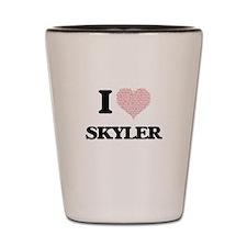 I Love Skyler (Heart Made from Love wor Shot Glass