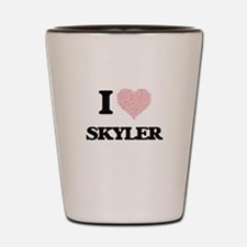 I Love Skyler (Heart Made from Love wor Shot Glass