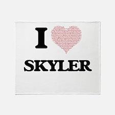 I Love Skyler (Heart Made from Love Throw Blanket