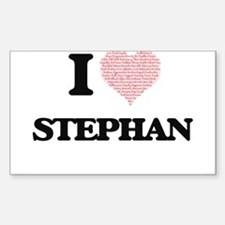 I Love Stephan (Heart Made from Love words Decal