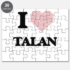 I Love Talan (Heart Made from Love words) Puzzle