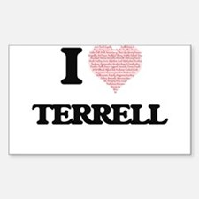 I Love Terrell (Heart Made from Love words Decal