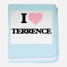 I Love Terrence (Heart Made from Love baby blanket