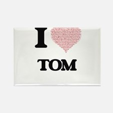 I Love Tom (Heart Made from Love words) Magnets