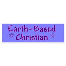 Earth-Based Christian Bumper Bumper Sticker