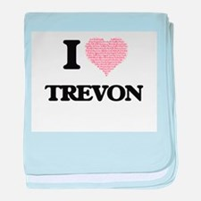 I Love Trevon (Heart Made from Love w baby blanket
