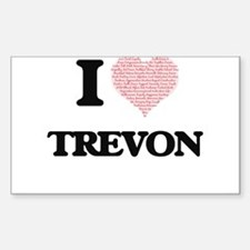 I Love Trevon (Heart Made from Love words) Decal
