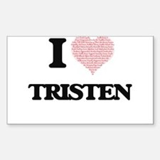 I Love Tristen (Heart Made from Love words Decal
