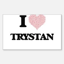 I Love Trystan (Heart Made from Love words Decal