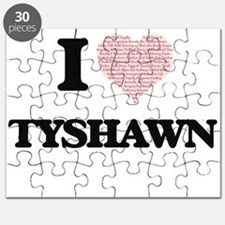 I Love Tyshawn (Heart Made from Love words) Puzzle