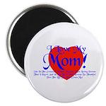 I Love Mom! Magnet
