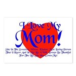 I Love Mom! Postcards (Package of 8)