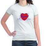 I Love Mom! Jr. Ringer T-Shirt