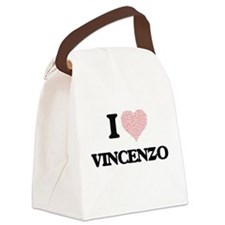 I Love Vincenzo (Heart Made from Canvas Lunch Bag