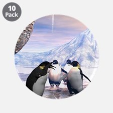 """Funny penguin 3.5"""" Button (10 pack)"""