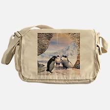 Funny penguin Messenger Bag