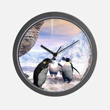 Funny penguin Wall Clock