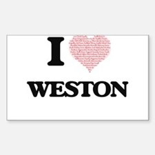 I Love Weston (Heart Made from Love words) Decal