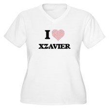 I Love Xzavier (Heart Made from Plus Size T-Shirt