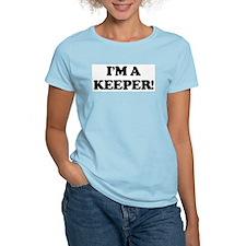 I'm a Keeper Women's Pink T-Shirt