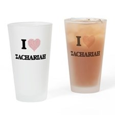 I Love Zachariah (Heart Made from L Drinking Glass