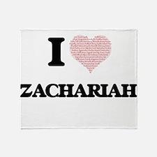 I Love Zachariah (Heart Made from Lo Throw Blanket