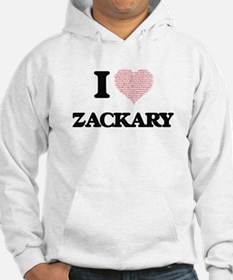 I Love Zackary (Heart Made from Hoodie