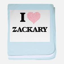 I Love Zackary (Heart Made from Love baby blanket