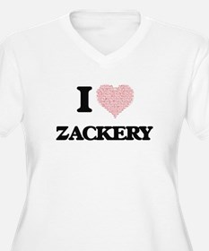 I Love Zackery (Heart Made from Plus Size T-Shirt
