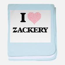 I Love Zackery (Heart Made from Love baby blanket
