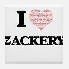 I Love Zackery (Heart Made from Love Tile Coaster