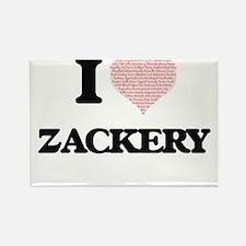 I Love Zackery (Heart Made from Love words Magnets