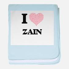 I Love Zain (Heart Made from Love wor baby blanket
