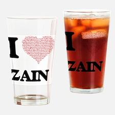 I Love Zain (Heart Made from Love w Drinking Glass