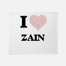 I Love Zain (Heart Made from Love wo Throw Blanket