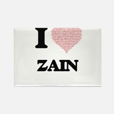 I Love Zain (Heart Made from Love words) Magnets