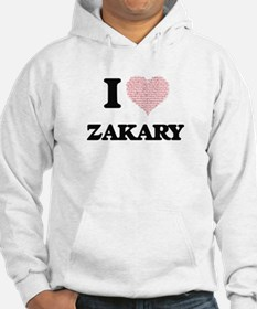 I Love Zakary (Heart Made from L Hoodie