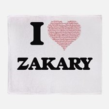 I Love Zakary (Heart Made from Love Throw Blanket