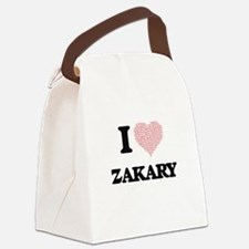 I Love Zakary (Heart Made from Lo Canvas Lunch Bag