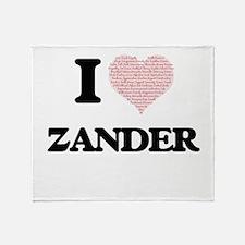 I Love Zander (Heart Made from Love Throw Blanket
