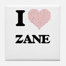 I Love Zane (Heart Made from Love wor Tile Coaster