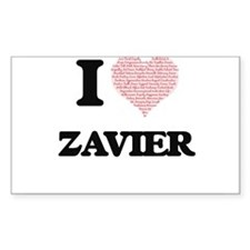 I Love Zavier (Heart Made from Love words) Decal