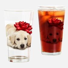 Cute Lab retriever Drinking Glass